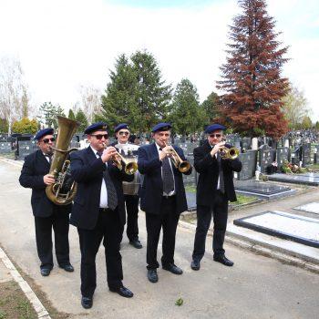 Beograd 04.04.2018 Orkestar za sahrane, Beogradski duvacki pogrebni orkestar, Novo Bezanijsko groblje, Ras foto Goran Srdanov
