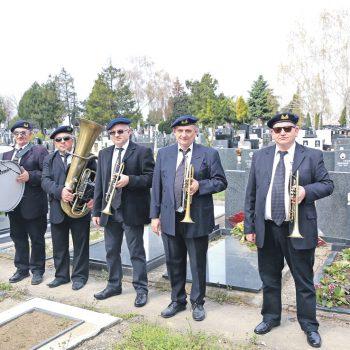 Beograd 04.04.2018 Orkestar za sahrane, Beogradski duvacki pogrebni orkestar, Novo Bezanijsko groblje,